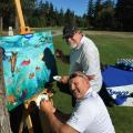 Elanco Canada Art Project - in progress at Hole One